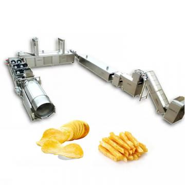Semi Automatic Industrial Small Scale Pringle Lays Potato Chips Maker Production Line Frozen French Fries Making Machine Price