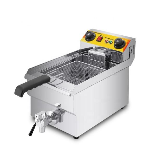 8LTR Electric Stainless Steel Deep Flat Chicken Fryer with CE (WF-081) #1 image